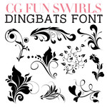 cg fun swirls dingbats
