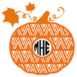 southwest pumpkin monogram frame