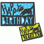 terrier happy birthday card 5 x 7