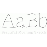 beautiful morning sketch font