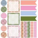 vintage party planner stickers