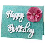 happy birthday flower gift card pocket