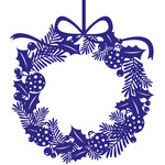 holly and bauble christmas wreath