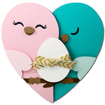 love bird egg card