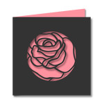 rose cut out card