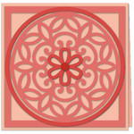 flower filigree overlay 5x5 card