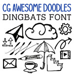 cg awesome doodles dingbats