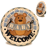 baby teddy rocker 5x5 card