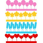 party balloons borders set