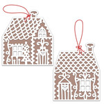 gingerbread house gift tags or ornaments