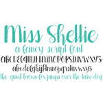 miss shellie font