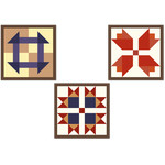 barn quilt squares turkey tracks tulips