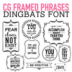 cg framed phrases dingbats