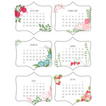 2019 mini floral calendar - jan-june