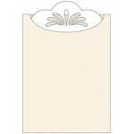 scallop sleeve pocket card