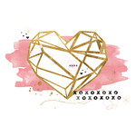gold prism heart