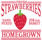 fresh strawberries sign
