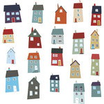 little houses stickers