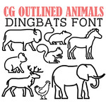 cg outlined animals dingbats