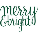 merry & bright message
