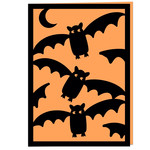 bats cute halloween card