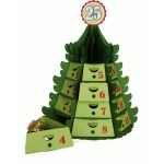 3d christmas countdown tree drawer stacker