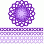 12 inch doily border set bell edge