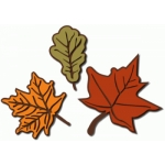 autumn leaves with detail