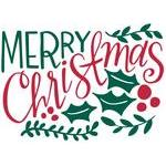 merry christmas handlettered
