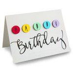 happy birthday circles folded card