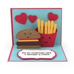 pop up card hamburger and fries