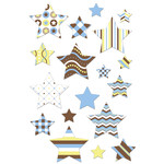 baby boy stars matching planner stickers