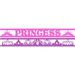 princess & crown borders