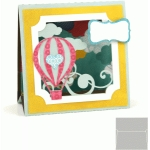 3d stand up card: hot air balloon