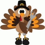 pilgrim turkey with fork