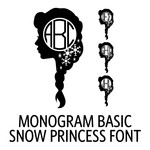 monogram basic - snow princess