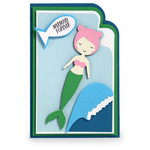 super layered mermaid card