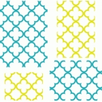 quatrefoil backgrounds - 4x6