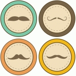 moustache labels