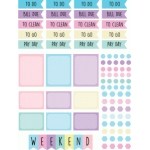 pastel planner flags, boxes & weekend banner