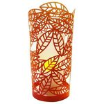 autumn leaves papercut lantern