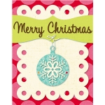 'merry christmas' card kit