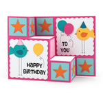 3-step card birthday birds