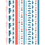 fitness washi sticker planner tape