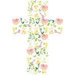 watercolor flower cross