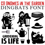 cg gnomes in the garden dingbats