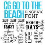 cg go to the beach quotes dingbats