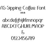 nssipping coffee font