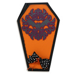 ornate bat coffin card