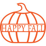 happy fall pumpkin